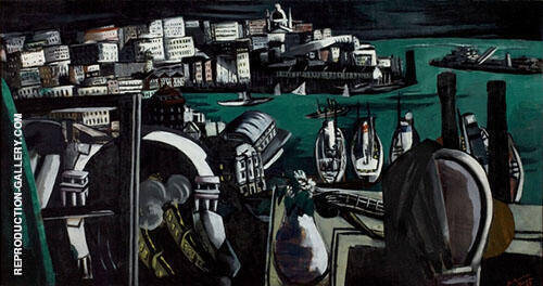 The Harbour of Genoa 1927 By Max Beckmann Replica Paintings on Canvas - Reproduction Gallery