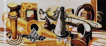 Large Still Life with Musical Instruments 1926 By Max Beckmann Replica Paintings on Canvas - Reproduction Gallery