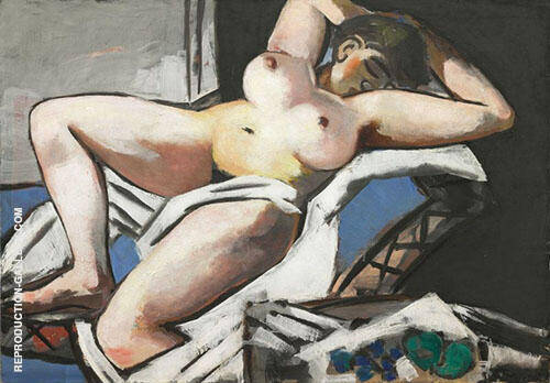 Reproduction of Reclining Nude 1929 by Max Beckmann | Oil Painting Replica On CanvasReproduction Gallery