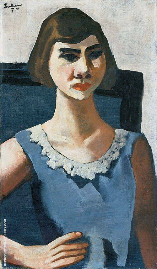 Reproduction of Portrait of Quappi in Blue 1926 by Max Beckmann | Oil Painting Replica On CanvasReproduction Gallery
