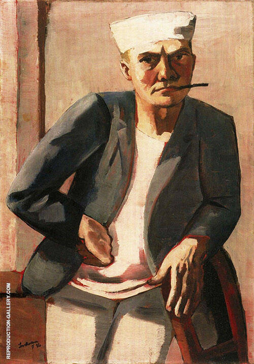 Self Portrait in a White Cap 1926 By Max Beckmann