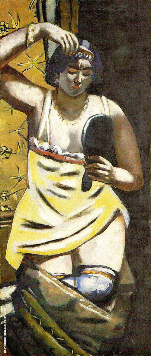 Reproduction of Gypsy Woman 1928 by Max Beckmann | Oil Painting Replica On CanvasReproduction Gallery