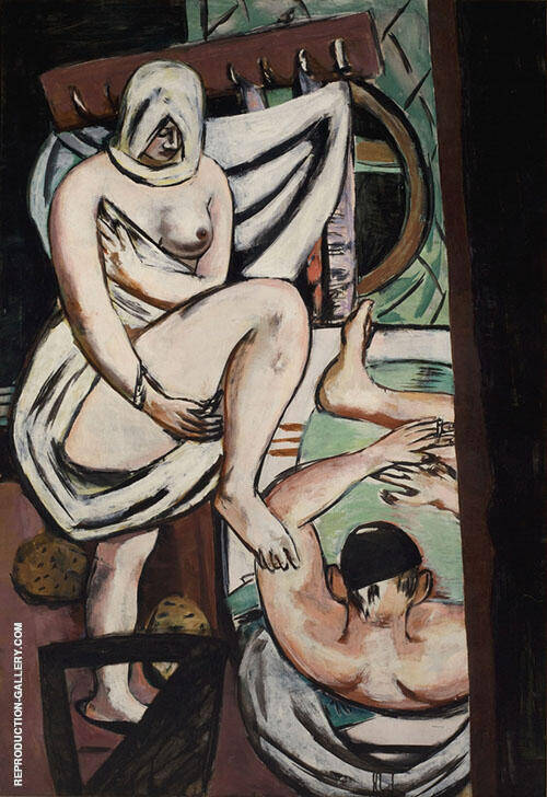 The Bath 1930 By Max Beckmann Replica Paintings on Canvas - Reproduction Gallery