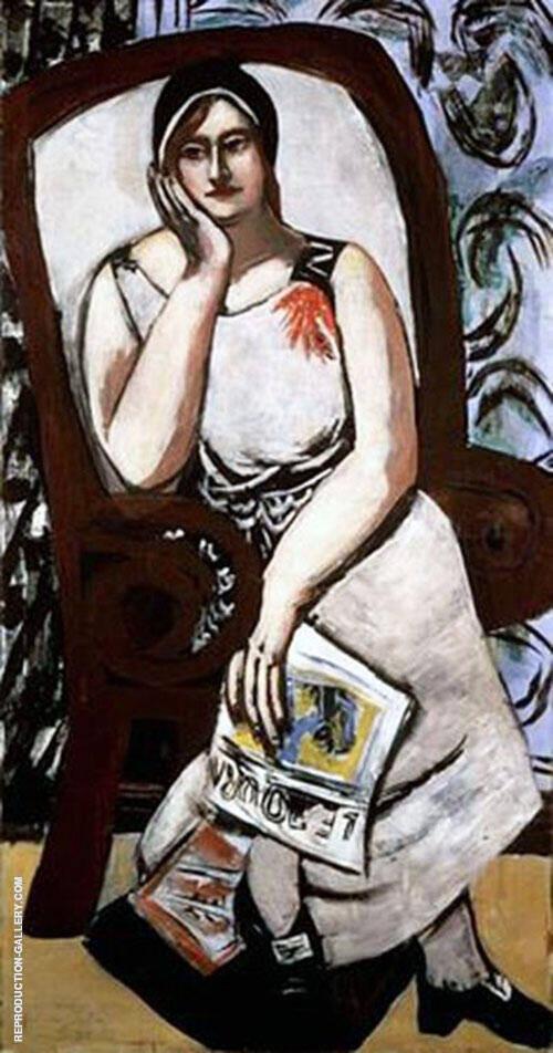 Portrait of Minna Beckmann Tube 1930 By Max Beckmann