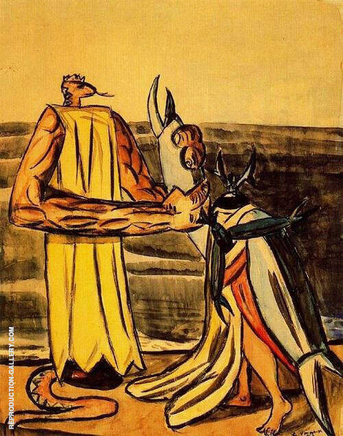 The Serpent King and the Stagbeetle Bride 1933 Painting By Max Beckmann