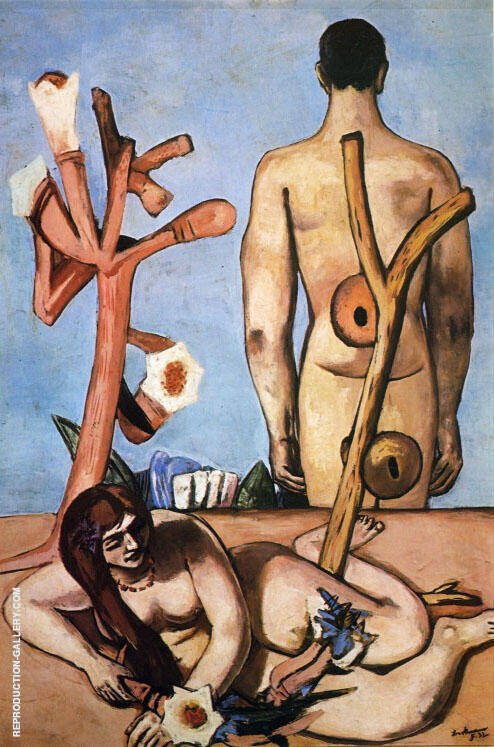 Man and Woman 1932 Painting By Max Beckmann - Reproduction Gallery