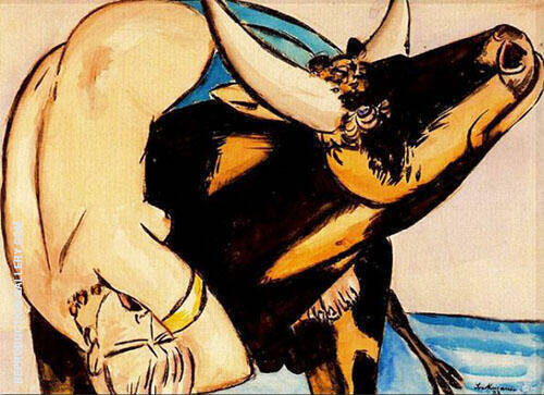 Rape of Europa By Max Beckmann Replica Paintings on Canvas - Reproduction Gallery