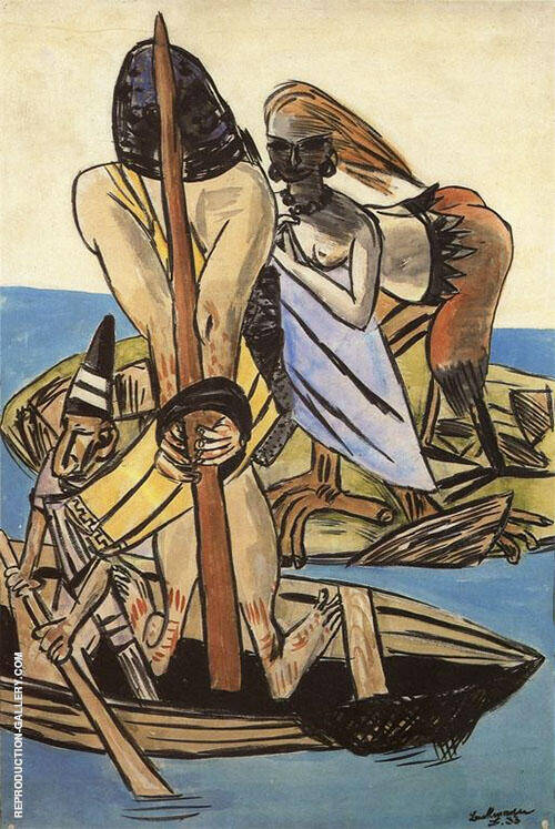 Odysscus and the Siren 1933 By Max Beckmann