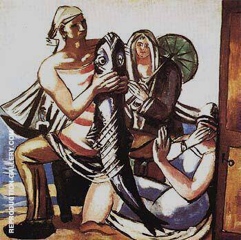 Reproduction of The Catfish 1929 by Max Beckmann | Oil Painting Replica On CanvasReproduction Gallery