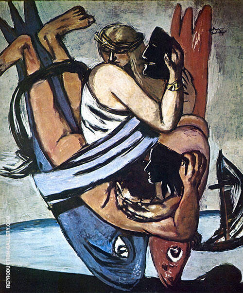 Journey on The Fish 1934 Painting By Max Beckmann - Reproduction Gallery