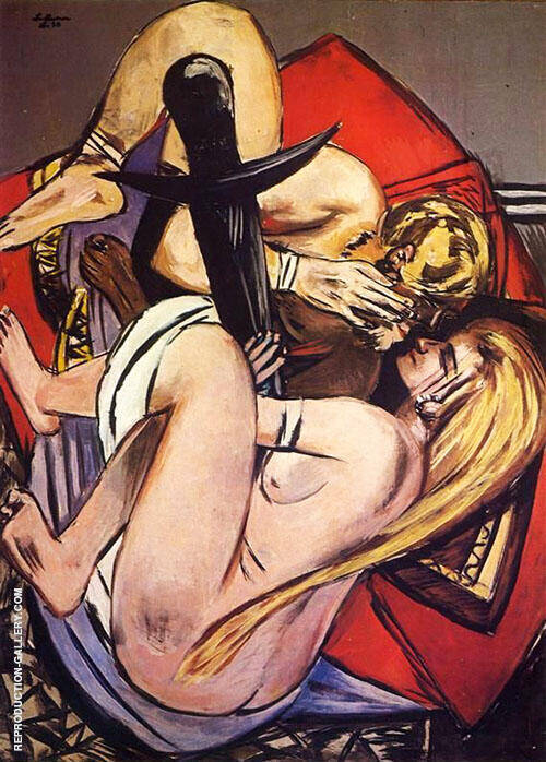 Brother and Sister 1933 By Max Beckmann Replica Paintings on Canvas - Reproduction Gallery