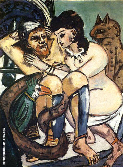 Odysscus and the Calypso 1943 By Max Beckmann - Oil Paintings & Art Reproductions - Reproduction Gallery