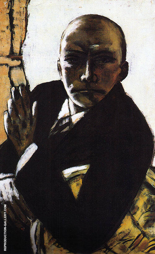 Self Portrait in Black 1944 Painting By Max Beckmann
