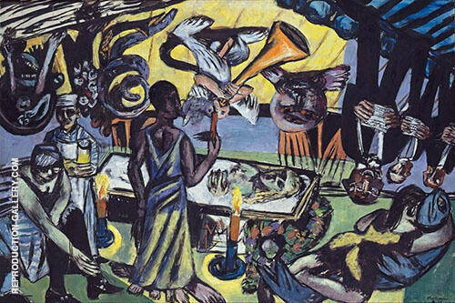 Death 1938 By Max Beckmann Replica Paintings on Canvas - Reproduction Gallery