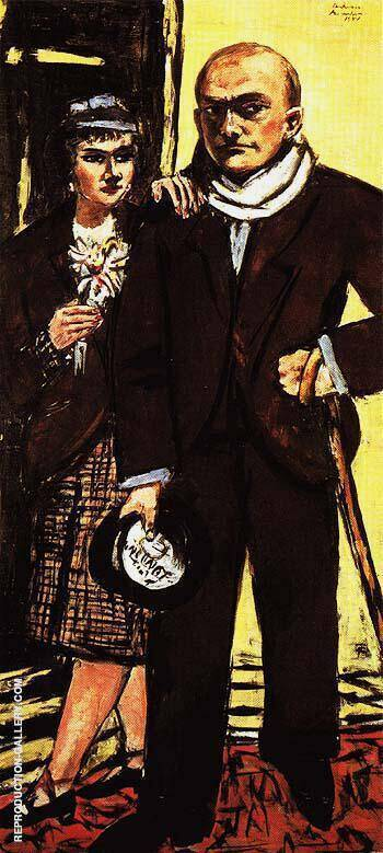 Double Portrait of Max and Quappi Beck Mann 1941 By Max Beckmann - Oil Paintings & Art Reproductions - Reproduction Gallery