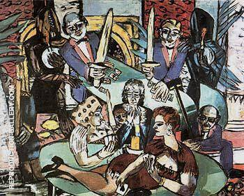 Dream of Monte Carlo By Max Beckmann Replica Paintings on Canvas - Reproduction Gallery