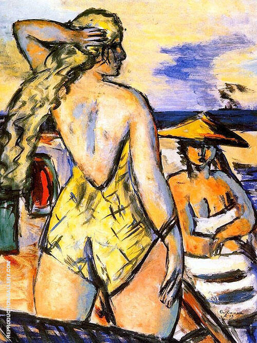Girl by The Sea 1938 By Max Beckmann