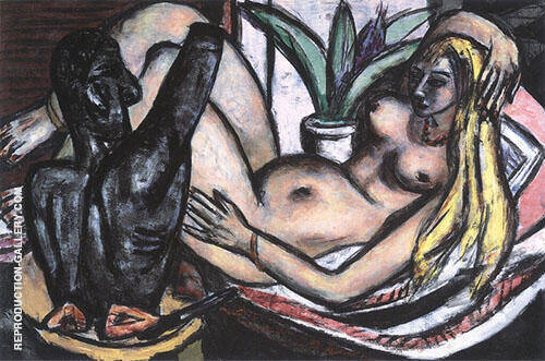 Studio Olympia 1946 Painting By Max Beckmann - Reproduction Gallery