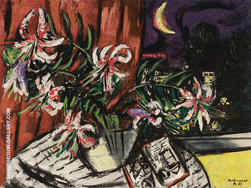 Turkish Lilies 1937 By Max Beckmann