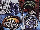 Still Life with Blue Orchids 1938 By Max Beckmann