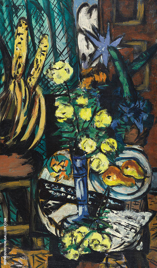 Still Life with Yellow Roses 1937 By Max Beckmann