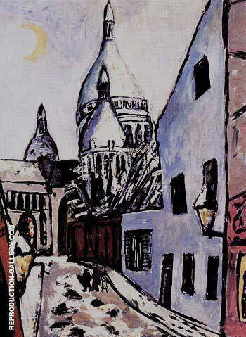Sacre Coeur in Snow 1939 By Max Beckmann