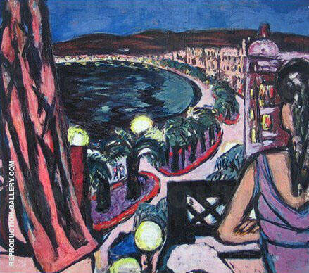 Promenade des Anglais in Nice 1947 Painting By Max Beckmann