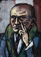 Self Portrait with Cigarette 1947 By Max Beckmann