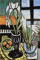 Still Life with Irises 1949 By Max Beckmann