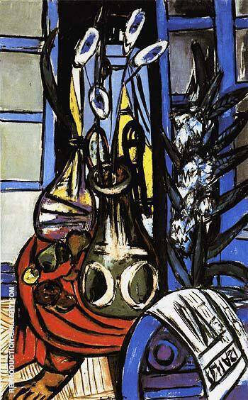 Large Still Life Interior Blue 1949 By Max Beckmann