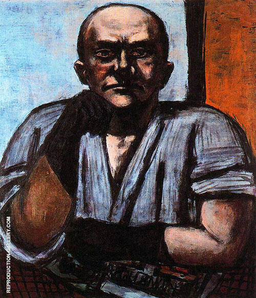 Self Portrait in Gloves 1948 By Max Beckmann Replica Paintings on Canvas - Reproduction Gallery