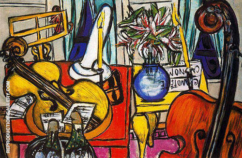 Still Life with Cello and Double Bass 1950 By Max Beckmann