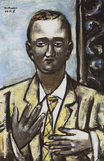 Portrait of Morton D May 1949 By Max Beckmann