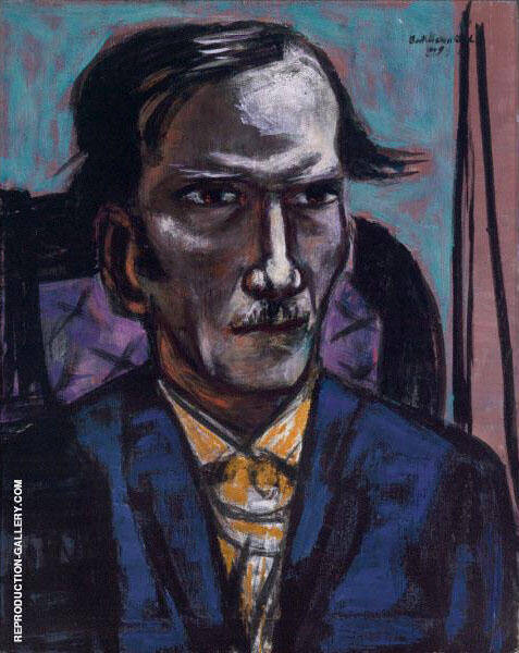 Portrait of Fred Conway 1949 By Max Beckmann Replica Paintings on Canvas - Reproduction Gallery