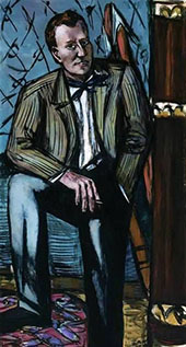 Portrait of Perry T Rathbone 1948 By Max Beckmann