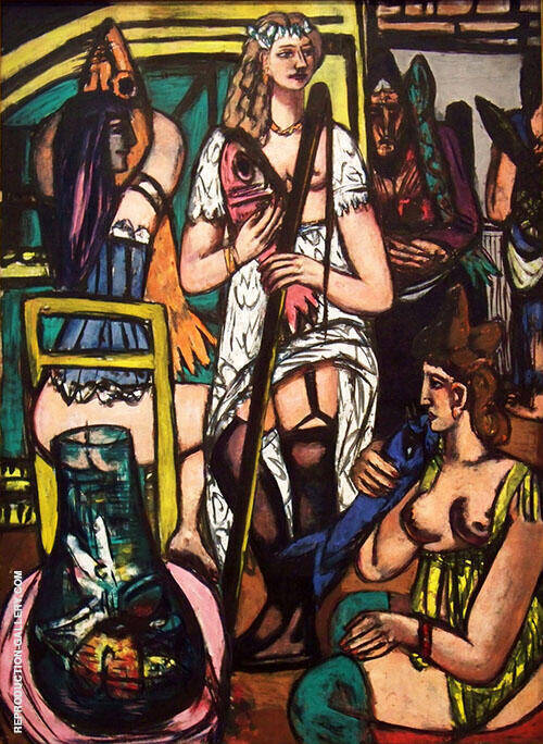 Fisherwoman 1948 By Max Beckmann - Oil Paintings & Art Reproductions - Reproduction Gallery