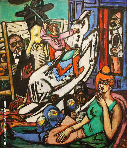 Panel from Beginning By Max Beckmann