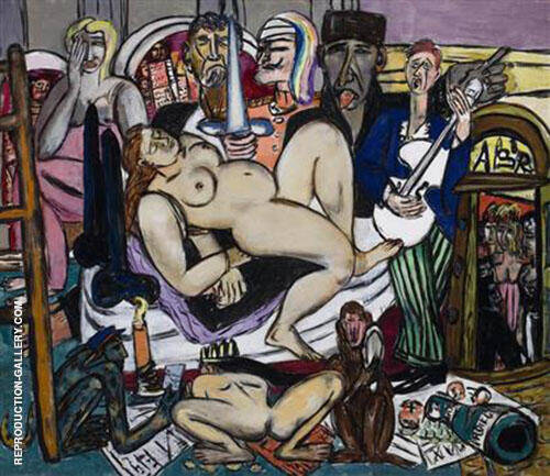 The Town City Night 1950 By Max Beckmann - Oil Paintings & Art Reproductions - Reproduction Gallery