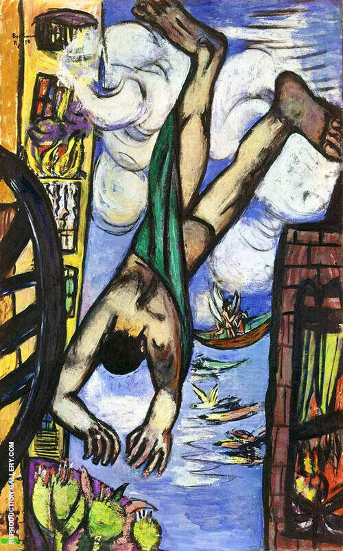 Falling Man 1950 By Max Beckmann - Oil Paintings & Art Reproductions - Reproduction Gallery