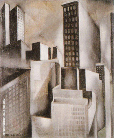 New York 1929 By Tamara de Lempicka - Oil Paintings & Art Reproductions - Reproduction Gallery