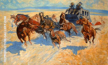 Downing the Night Leader Painting By Frederic Remington