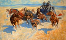 Downing the Night Leader By Frederic Remington