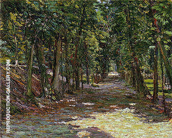Avenue in the Park St Cloud 1906 By Gabriele Munter Replica Paintings on Canvas - Reproduction Gallery