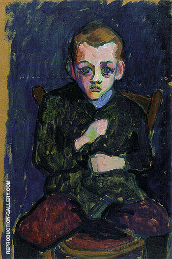 Portrait of a Young Boy 1908 By Gabriele Munter