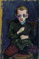 Portrait of a Young Boy 1908 By Gabriele Munter