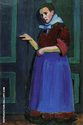 Fraulein Mathilde 1908 By Gabriele Munter Replica Paintings on Canvas - Reproduction Gallery