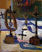 Grave Crosses in Kochel 1909 By Gabriele Munter
