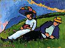 Jawlensky and Werefkin 1909 By Gabriele Munter