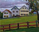 Three Houses in Murnau 1909 By Gabriele Munter