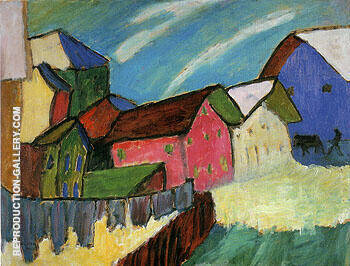 Village Sreet in Winter 1911 By Gabriele Munter
